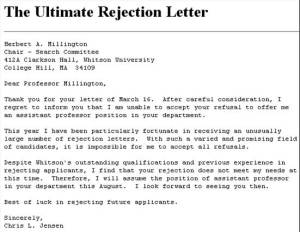 Reverse Rejection